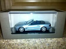 Minichamps Mercedes SL500 Silver/Blue 1:43 Rare Dealer!