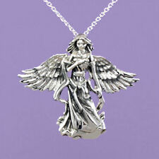 "Sterling Silver 925  ""Guardian Angel with Open Wings"" 18""/20"" Pendant  A121"