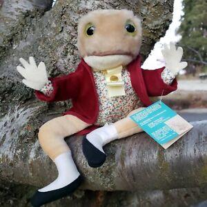 Beatrix Potter Jeremy Fisher Frog Plush Eden Toys Peter Rabbit Warne Vtg 1983