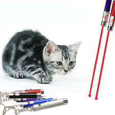 Hot Random Color 2 In 1 Red Laser Pointer Pen Funny LED Light For Pet Cat Toys