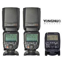 Yongnuo YN-E3-RT Transmitter + 2 x YN600EX-RT II Speedlite TTL Flash Fr Canon UK