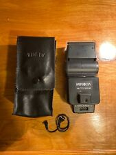 Minolta Auto 320X Shoe Mount Flash Unit Flashgun with  Owners Manuel and case