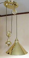 Farmhouse Collection Pull Down Pendant Brass Country Store Lamp Elk Lighting