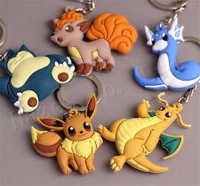 Pocket Monster Pokémon Eevee Snolax Silica Gel Keychains Keyrings Pendants Gift