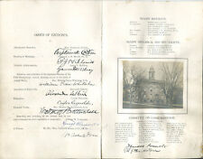 Theodore Roosevelt Signed Program 1899 Joseph Henry Centennial
