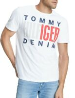 Tommy Hilfiger Mens T-Shirt Classic White Size Large L Graphic Logo Tee $39- 356