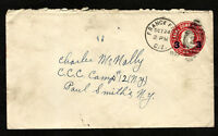 CANAL ZONE to USA Postal Stationery 1933 - FRANCE FIELD Cancel