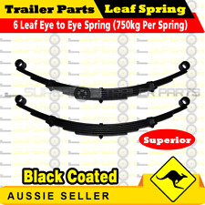 2x 6 Leaf Eye to Eye Springs Trailer Caravan Suspension 45mm x 8mm 1400kg Black