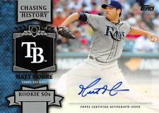 Matt Moore 2013 Topps Chasing History Autograph #CHA-MAM Auto Tampa Bay Rays BB2