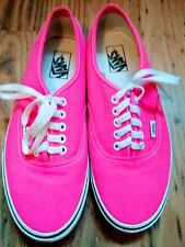 Vans Bright Pink Men Or Women Trainers Pumps US 9.5/11 UK 8/9