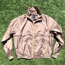 VTG 80s Beige Christian Dior Monsieur Sport Full Zip Windbreaker Gym Jacket XL