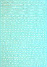 Startnummern Zahlen weiß Start Numbers white 1,7 x 0,7mm 1:43 Decal Abziehbilder
