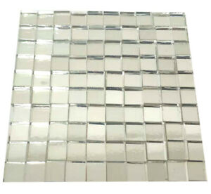 Mirrors Glass Mosaic Tiles For Crafts Square 10mmx10mm Mosaic Art 100/200 Pieces