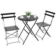 New Listing3Pcs Table Garden Backyard Table Folding Chairs Outdoor Patio Edra Furniture