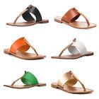 Steve Madden OLIVIA Womens Leather Thong Slides Sandals
