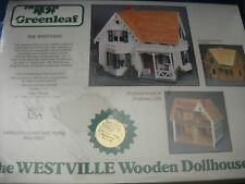 The Westville Wooden Dollhouse Kit by Greenleaf, model 8013 - 1:12 scale - Nib
