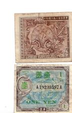WWII Military MPC money for Japan One Yen  WW2 1945
