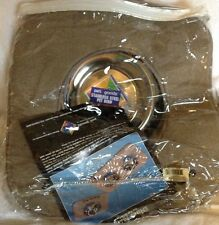 Pet Dinner Mat with Stainless Steel Bowl - Watering Hole Style-Made By Pet Goods