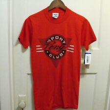 DEADSTOCK NWT 80s  Pony Sport Club T Shirt  RED Size SMALL