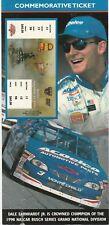 DALE EARNHARDT JR 1998 NASCAR CHAMP 4 X 8 1/2 COMMEMORATIVE TICKET LIMITED 10000
