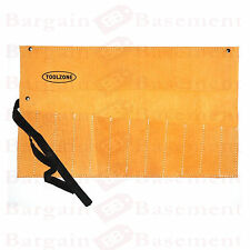 12 POCKET LEATHER TOOL ROLL BELT TOOL STORAGE 50cm x 30cm CHISEL / SPANNER ROLL