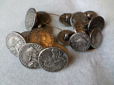 Vintage Metal Picture Buttons 20 Maria Theresia Empress of Hungary Bohemia Coin