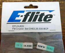 E-flite EFLHJ63I Par Cuarzo FM CH63 35.030 BCP Crystal Conjunto modelado