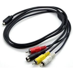 AV TV Out Video Cable For Sony DCR-HC24E DCR-HC26E DCR-HC27E DCR-HC28E DCR-HC30E