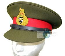 BRITISH ARMY STYLE OFFICERS PEAKED CAP AND BADGE 59CM