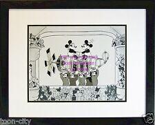Mickey Disney Sericel Cel Mail Pilot black n White Custom background New Frame
