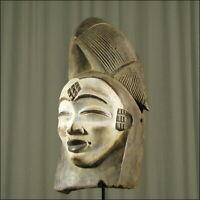 62811) Afrikanische Punu Holz Maske Gabun Afrika KUNST