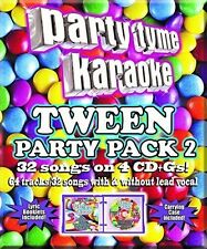 Party Tyme Karaoke: Tween Party Pack 2 - Various Arti (2015, CD NIEUW)4 DISC SET