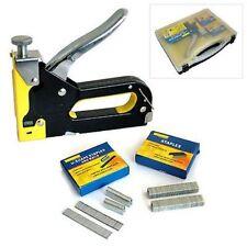 heavy duty 3 in 1 staple gun hand upholstery 600pc staples stapler cable diy uk