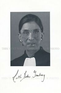 RUTH BADER GINSBURG AUTOGRAPH SIGNED 6x9 RPT PHOTO SUPREME COURT JUSTICE