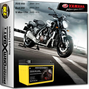 AGM Battery YTZ14S Yamaha VMAX 1700 XJR1300 XVS950 A V-Star 950 XVS950CU Bolt R