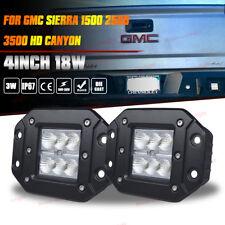 GMC Sierra 1500/2500/3500 Flush Mount Flood Backup Reverse Rear Bumper Led Light