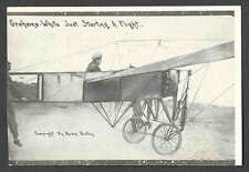 Ca 1911 GRAHAM WHITE PILOT TAKING OFF REAL PHOTO POSSIBLE REPRO SEE INFO