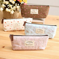Pretty Flower Floral Pencil Pen Case Cosmetic Makeup Bag Storage Pouch Purse SJ6