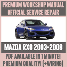 >WORKSHOP MANUAL SERVICE & REPAIR GUIDE for MAZDA RX8 2003-2008 +WIRING