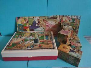 Hermann Eichhorn Spielwaren Egglham Germany 6 sided Block Puzzle Vintage