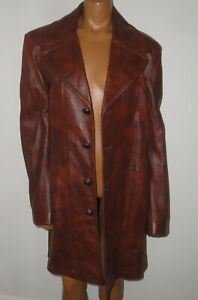Men's Vtg SCULLY LEATHERWEAR California,Genuine Leather Jacket,Trench Coat,40/M
