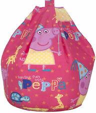 PEPPA PIG FUNFAIR BEAN BAG KIDS CHILDRENS BEDROOM FURNITURE GIRLS PINK