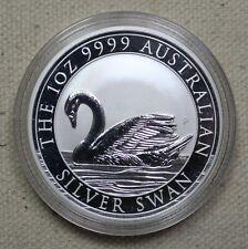 2017 Australia $1 Swan 1 Oz .9999 Silver Round Coin Perth Mint Unc