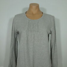 LAND'S END Women's Gray Cotton Top, Long sleeves size S
