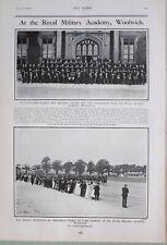 1903 Estampado Real Militar Academy Woolwich Genilemen Cadete Inspección Roberts