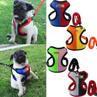 Mesh Walk Leash Puppy Vest Collar Chest Strap Dog Harness Pet Traction Rope