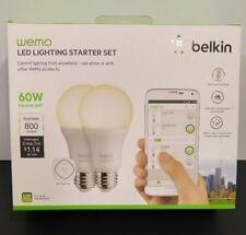 Belkin WeMo LED Lighting Starter Kit Screw Bulbs WIFI 3G 4G 2 Bulbs Link New