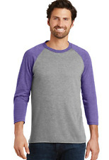Men's District Made Tri Blend 3/4 Sleeve Baseball Tee Shirt 4X msrp $28.