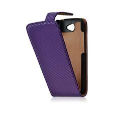 Housse coque étui gaufré pour HTC One S couleur violet + Film Protecteur