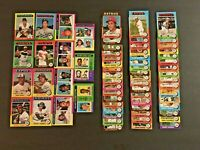 (Lot of 65) 1975 Topps MINI Baseball Cards (Stars, HOF, Commons) NM-Mint  LT4